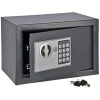 HI Kassaskåp med digitalt lås mörkgrå 31x20x20 cm