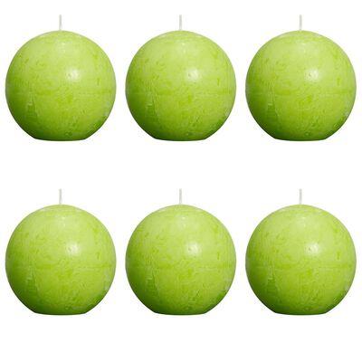 Bolsius Blockljus klotformat 80 mm limegrön 6-pack , Lime
