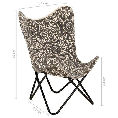 vidaXL Fladdermusfåtölj kanvas med mönster
