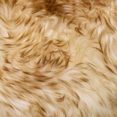 vidaXL Sittdynor 2 st brun melange 40x40 cm äkta fårskinn, brun melange
