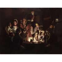 The Experiment with the Aipump,Joseph Wright,50x40cm