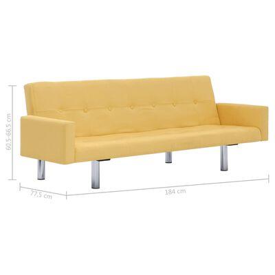 vidaXL Bäddsoffa med armstöd gul polyester