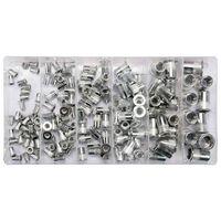 YATO Nitmuttersats 150 delar aluminium M3-M10