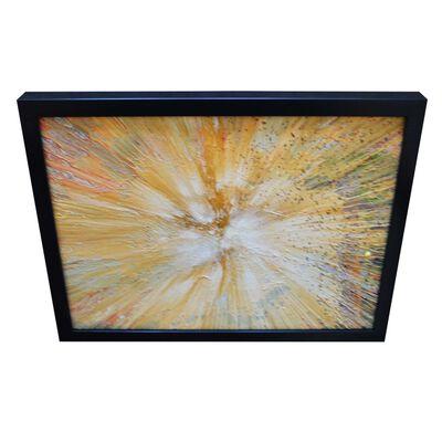 Abstrakt, oljemålning med ram, 30x40 cm,