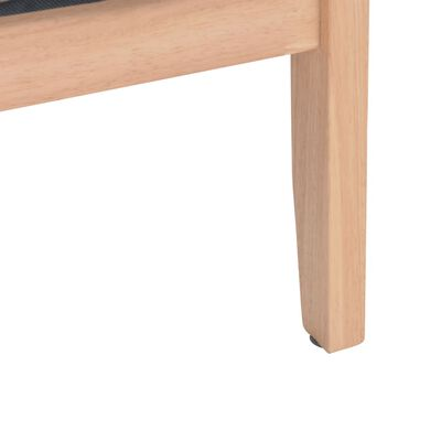 vidaXL 2-sitssoffa tyg ljusgrå
