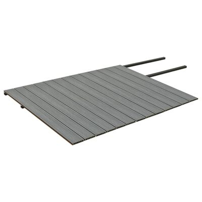vidaXL WPC-golvplattor med tillbehör brun och grå 26 m² 2,2 m