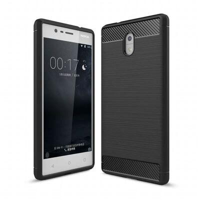 Borstat silikon TPU skal Nokia 3 (TA-1032) Svart,