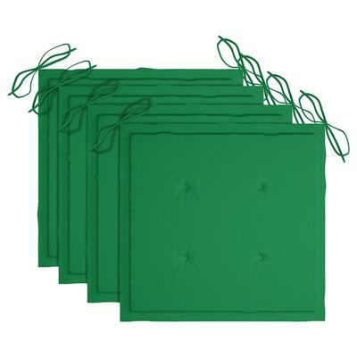 vidaXL Trädgårdsstolar med dynor 4 st massivt akaciaträ
