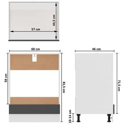vidaXL Köksskåp set 8 delar grå spånskiva