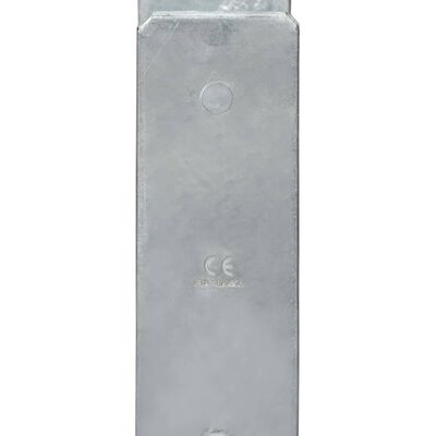 vidaXL Jordankare 6 st silver 9x6x60 cm galvaniserat stål