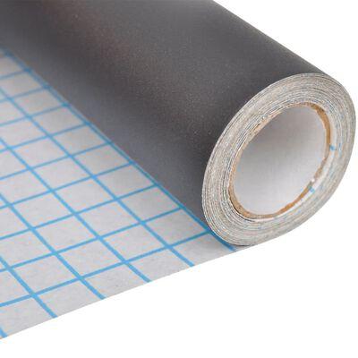 vidaXL Väggklistermärke svarta tavlan 2 rullar med kritor 0,6 x 2 m