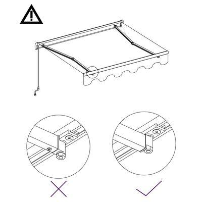 vidaXL Markis automatiskt infällbar 300x250 cm antracit