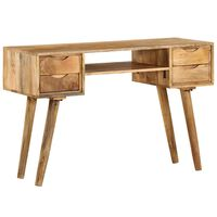 vidaXL Skrivbord i massivt mangoträ 115x47x76 cm