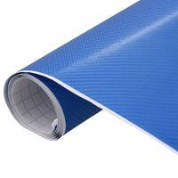 vidaXL Bilfoliering matt 4D blå 500x152 cm