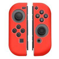 Silikongrepp För Joy-con Handkontroll, Nintendo Switch, Röd
