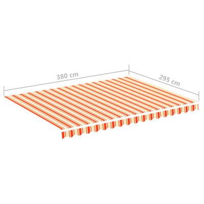 vidaXL Markisväv gul och orange 4x3 m