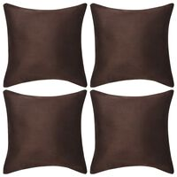 vidaXL Kuddöverdrag 4 st 50x50 cm polyester mockaimitation brun