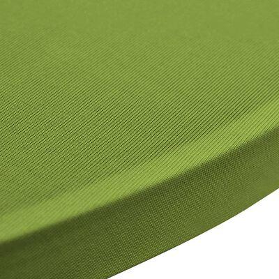 vidaXL Bordsöverdrag 4 st 60 cm stretch grön