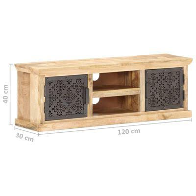 vidaXL TV-bänk med ståldörrar 120x30x40 cm massivt mangoträ