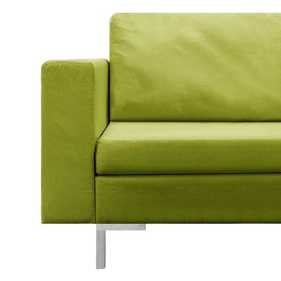 vidaXL Soffgrupp 5 delar tyg grön