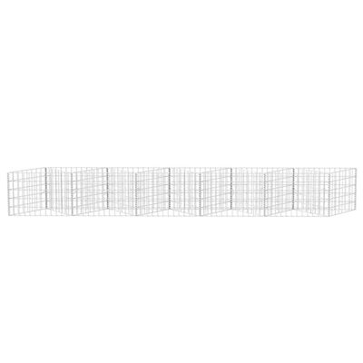 vidaXL Gabionkorg galvaniserat stål 300x30x50 cm