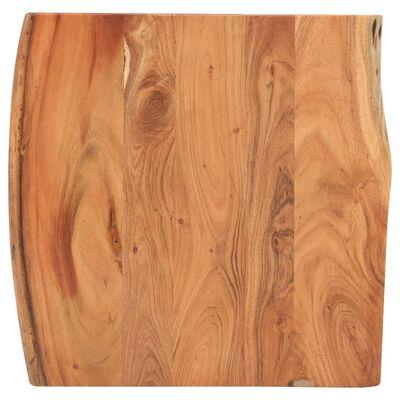 vidaXL Barbord med levande kanter 60x60x110 cm massivt akaciaträ