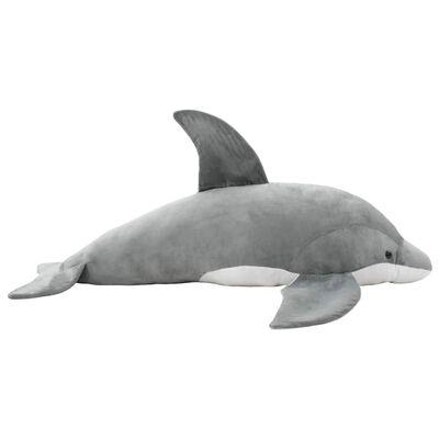 vidaXL Gosedjur delfin plysch grå