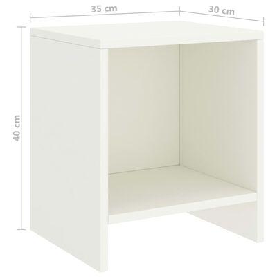 vidaXL Sängbord 2 st vit 35x30x40 cm massiv furu