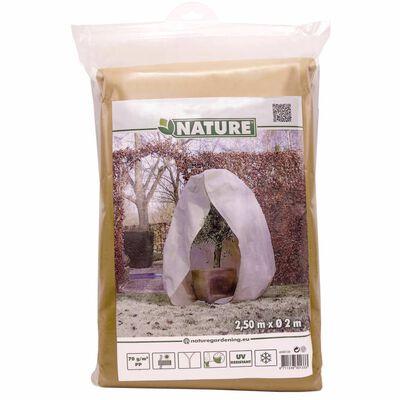 Nature Täckduk fleece med blixtlås 70 g/m² beige 2x2,5 m