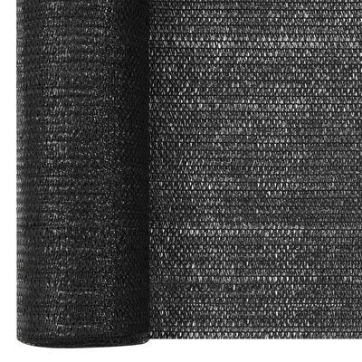 vidaXL Insynsskyddsnät svart 1,8x10 m HDPE 75 g/m²