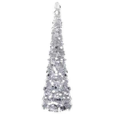 vidaXL Pop-up Plastgran silver 180 cm PET