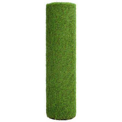 vidaXL Konstgräsmatta 1x10 m/40 mm grön