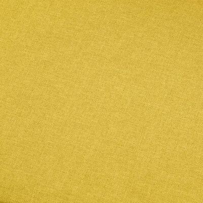 vidaXL 4-sitssoffa gul tyg