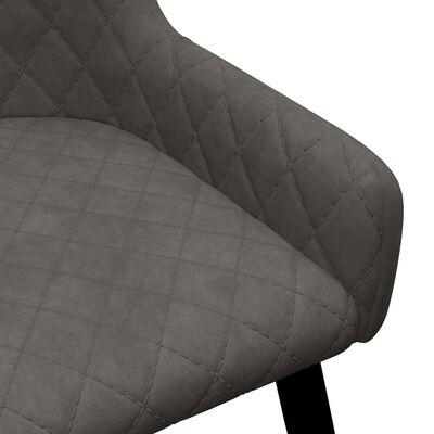 vidaXL Matstolar 4 st grå sammet