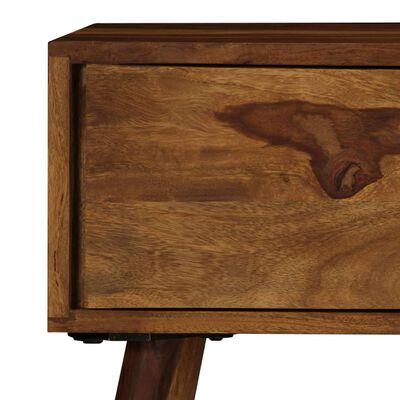 vidaXL TV-bänk 140x50x35 cm massivt sheshamträ