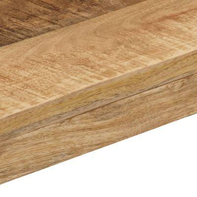 vidaXL Matbord 115x55x76 cm massivt mangoträ och stål
