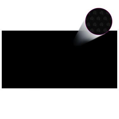 vidaXL Poolskydd svart 400x200 cm PE