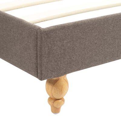 vidaXL Säng med memoryskummadrass taupe tyg 120x200 cm
