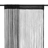 vidaXL Trådgardiner 2 st 100x250 cm svart