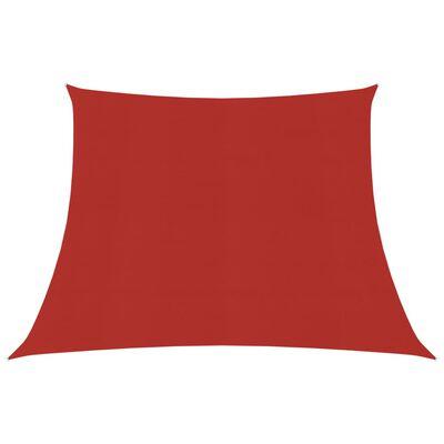 vidaXL Solsegel 160 g/m² röd 4/5x4 m HDPE