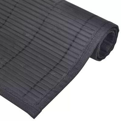 6 Bordstabletter i bambu 30 x 45 cm svart