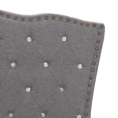 vidaXL Säng med madrass ljusgrå tyg 140x200 cm