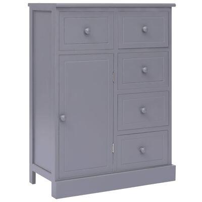 vidaXL Skänk med 10 lådor grå 113x30x79 cm trä