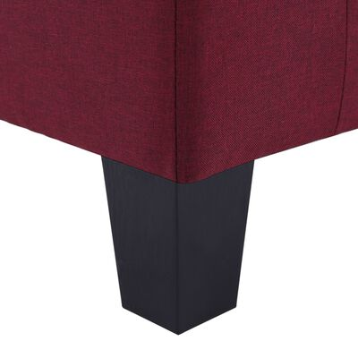 vidaXL 4-sitssoffa vinröd tyg