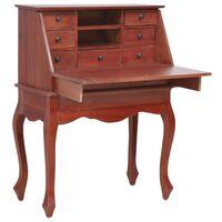 vidaXL Sekretär brun 78x42x103 cm massivt mahognyträ