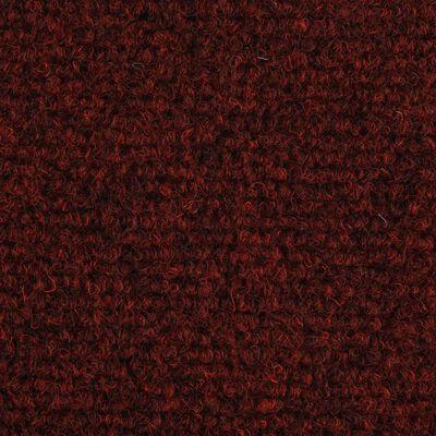 vidaXL Trappstegsmattor självhäftande 15 st brodyr 54x16x4 cm röd