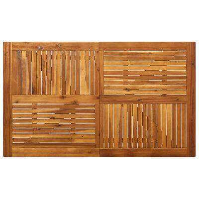 vidaXL Trädgårdsbord 150x90x75 cm massivt akaciaträ