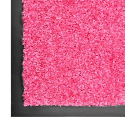 vidaXL Dörrmatta tvättbar rosa 90x120 cm