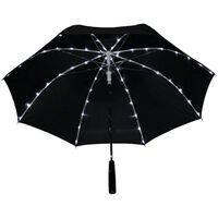 Paraply Med 64 Led-lampor - Svart