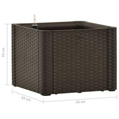 vidaXL Upphöjd odlingslåda med självbevattning mocka 43x43x33 cm